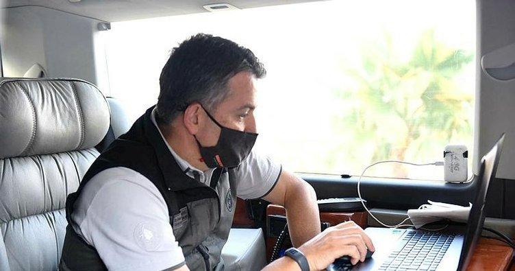 Adana Bakan Pakdemirli Kozan'daki yangında uydudan incelemelerde bulundu