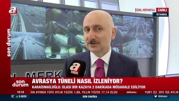 SON DAKİKA: Bakan Karaismailoğlu'dan Kanal İstanbul açıklaması! Avrasya Tüneli'nin kalbinden CANLI YAYIN