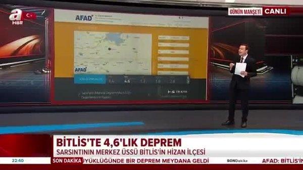 Son dakika! Bitlis'te korkutan deprem   Video