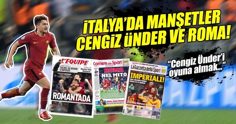 İtalya'da zafer manşetleri: Cengiz Ünder'i oyuna almak doğru hamleydi!