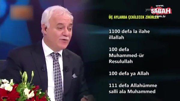 Nihat Hatipoğlu 3 aylarda çekilecek zikirleri anlattı | Video