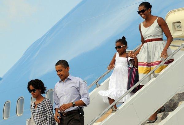 Obamalar'ın tatil keyfi