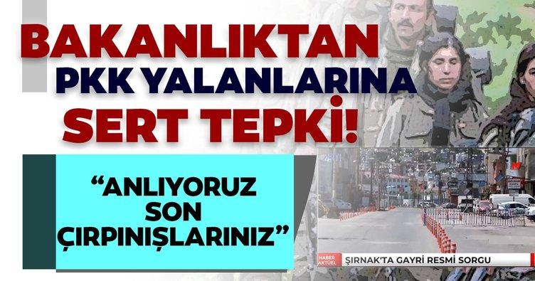 İçişleri Bakanlığından Şırnak'ta binlerce kişi gayriresmi sorgulandı haberlerine yalanlama