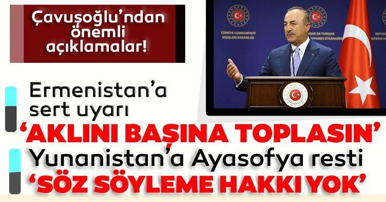 Son dakika haberi: Bakan Çavuşoğlu'ndan sert uyarı: Ermenistan aklını başına toplasın! Azerbaycan'ın yanındayız