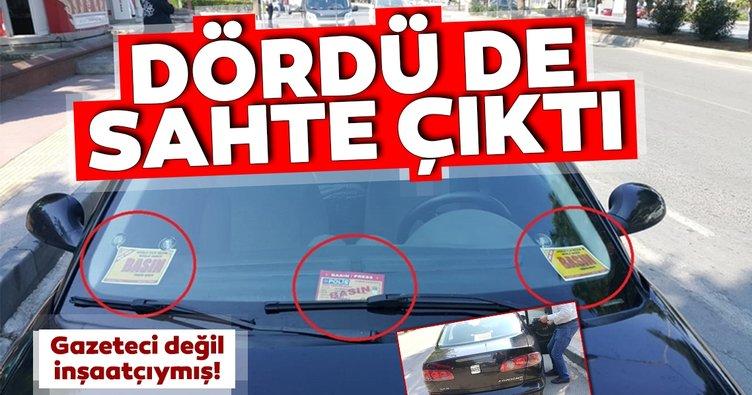 Samsun'da aracında 4 farklı sahte basın kartı olan sürücü gözaltına alındı