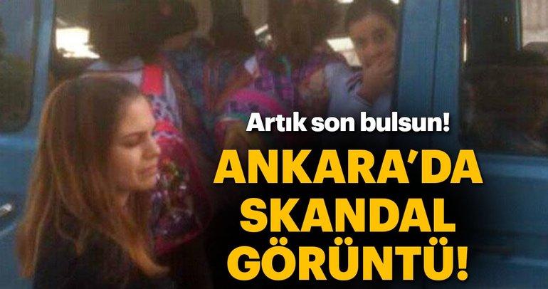 Ankara'da skandal servis görüntüsü!