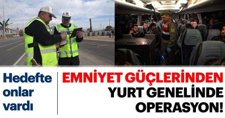 Güvenlik güçlerinden yurt genelinde araç, motosiklet, akaryakıt ve vergi kaçakçılığına yönelik uygulama