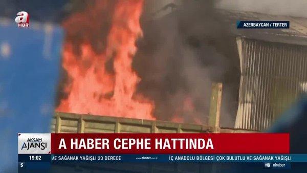 A Haber, canlı yayında Ermenistan saldırısını kaydetti!   Video