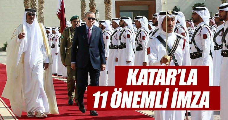 Katar ile 11 önemli anlaşma imzalandı