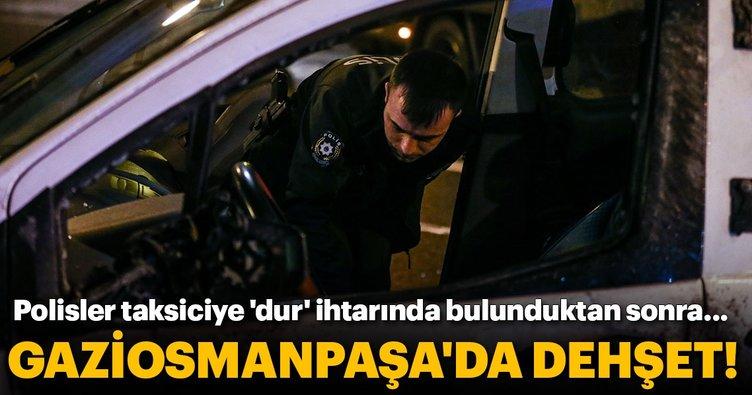 Taksiciyi kovalayan polisler kaza yaptı: 2 yaralı