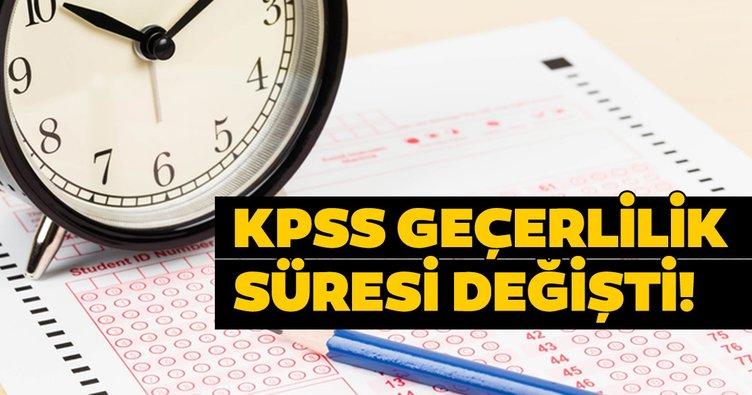 Öğretmen adayları dikkat! 2020 KPSS puanı kaç yıl geçerli olacak? KPSS puanı geçerlilik süresi değişti!