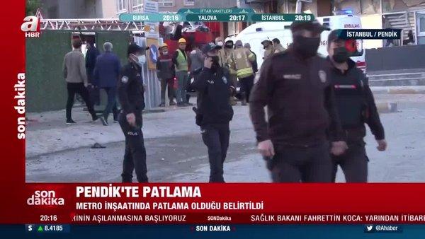 Pendik Kaynarca'da bulunan bir metro inşaatında patlama meydana geldi | Video
