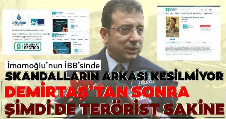 İmamoğlu'nun İBB'sinde skandalların arkası gelmiyor! Şimdi de Terörist Sakine Cansız'ın kitabını satıyorlar