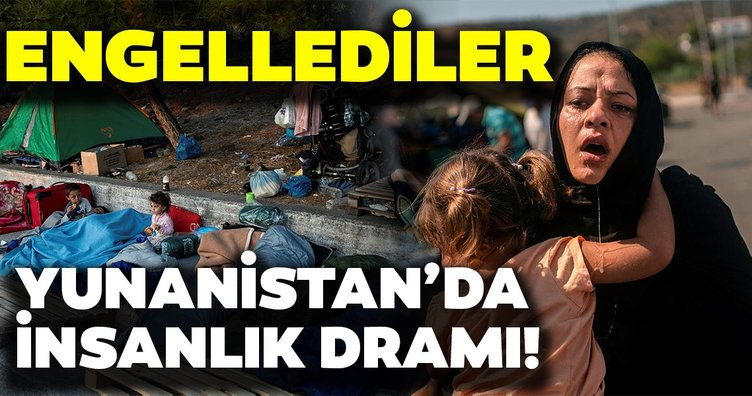 Yunanistan'da mülteci kampı küle döndü! Yunan yetkililer mültecilerin içler acısı halinin görüntülenmesine izin vermedi