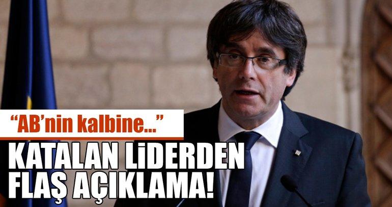 Puigdemont: Katalan problemini ABnin kalbine taşımaya geldim