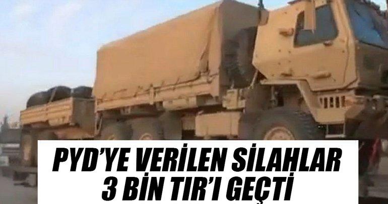 PYD'ye verilen silahlar 3 bin TIR'ı geçti
