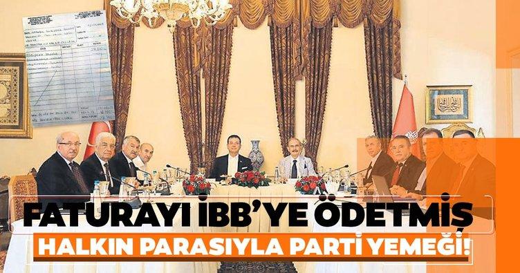 Ekrem İmamoğlu'ndan halkın parasıyla CHP'li başkanlara ziyafet