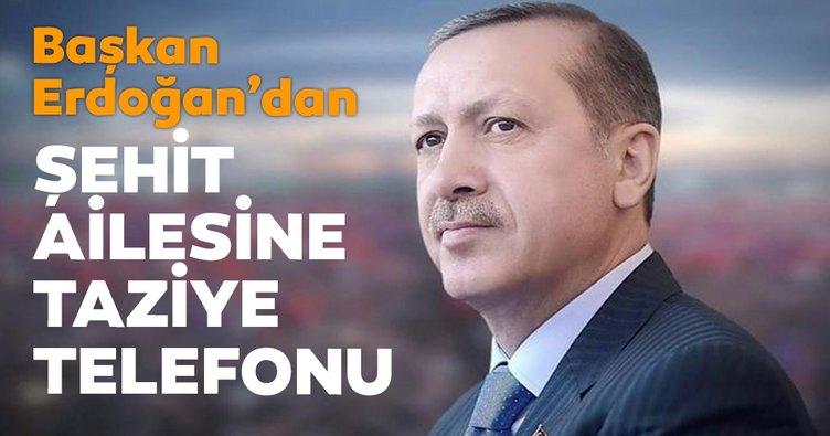 Başkan Erdoğan'dan taziye telefonu