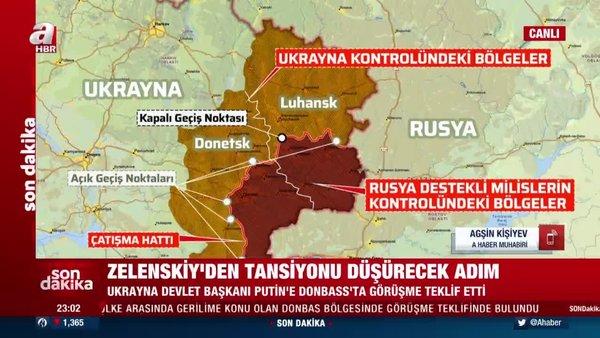Son Dakika Haberi... Zelenskiy'den Putin'e Donbass çağrısı | Video