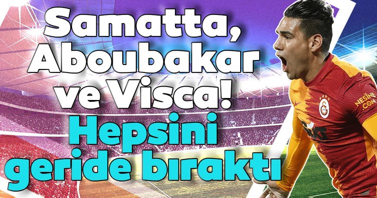 Samatta, Aboubakar ve Visca! Radamel Falcao hepsini geride bıraktı