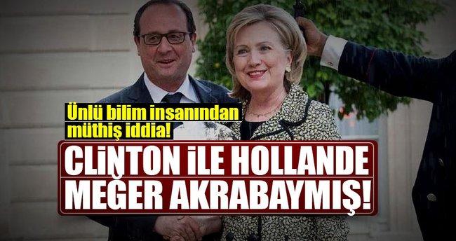 Clinton ile Hollande uzaktan akraba çıktı