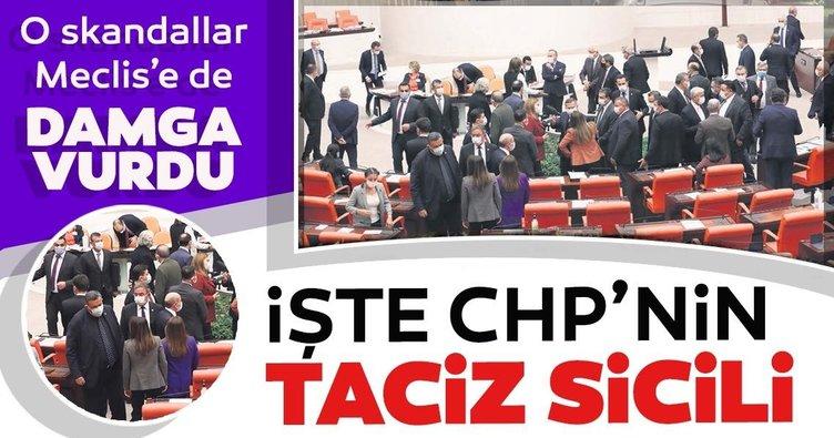 CHP'deki taciz ve tecavüz Meclis'e de damga vurdu