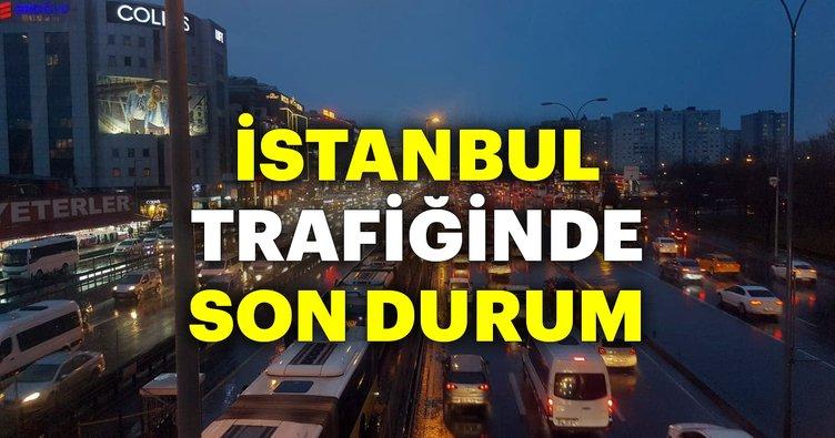 Son dakika haberi... İstanbul'da yağan yağmur trafiği felç etti! İşte İstanbul trafiğinde son durum
