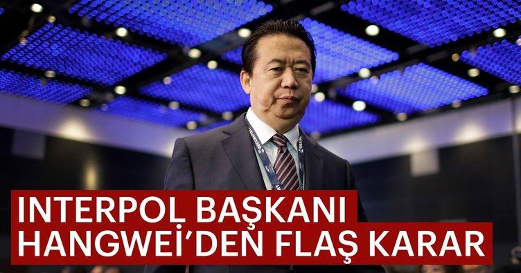 INTERPOL Başkanı Hangwei istifa etti