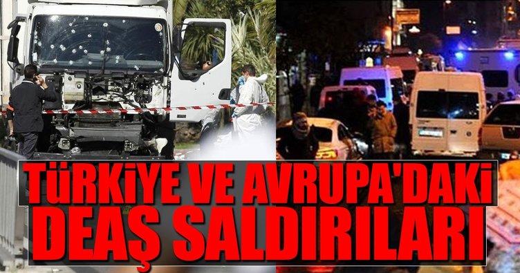 Türkiye ve Avrupa'daki DEAŞ saldırıları