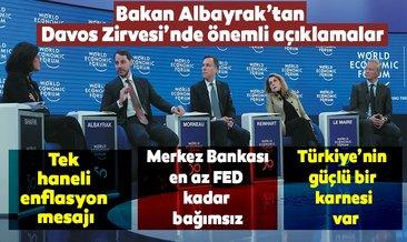 Bakan Albayrak Davos Zirvesinde konuştu: Türkiyenin güçlü bir karnesi var