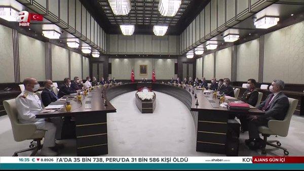 Son dakika: Milli Güvenlik Kurulu Cumhurbaşkanı Erdoğan'ın başkanlığında toplandı | Video