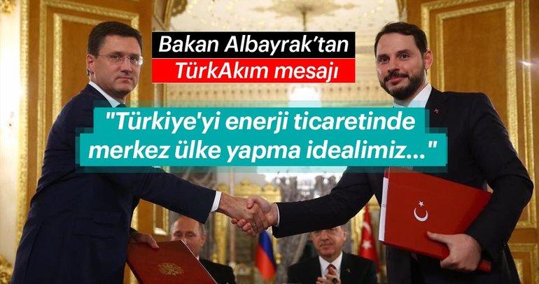 Son dakika: Bakan Albayrak'tan 'TürkAkım' mesajı