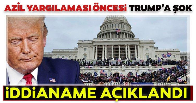 Azil yargılaması öncesi Trump'a şok Kongre baskını suçlaması