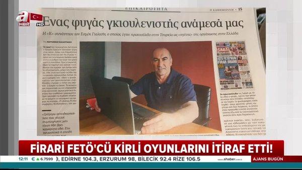 FETÖ'nün firar imamı Yunan medyasında herşeyi itiraf etti