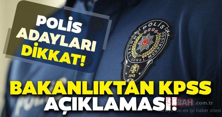 Polis adayları dikkat! Polis alımlarında Bakan Soylu'dan KPSS puanı açıklaması...