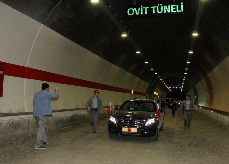 Cumhurbaşkanı Erdoğan, Ovit Tüneli'nde