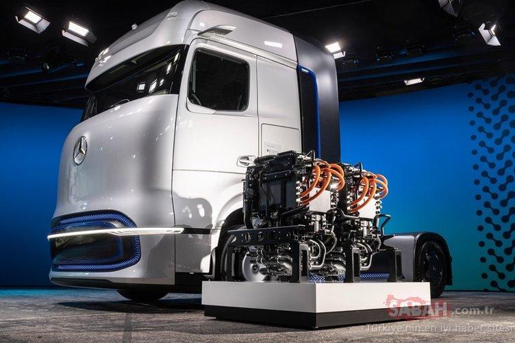 Hidrojenle çalışan TIR ortaya çıktı! İşte Mercedes'in yeni aracı!