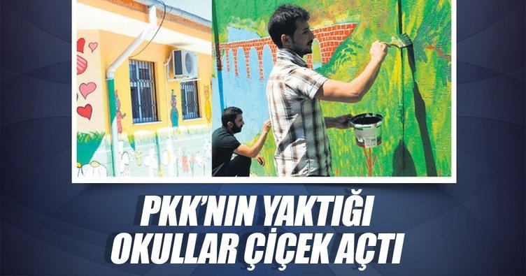 PKK'nın yaktığı okullar çiçek açtı