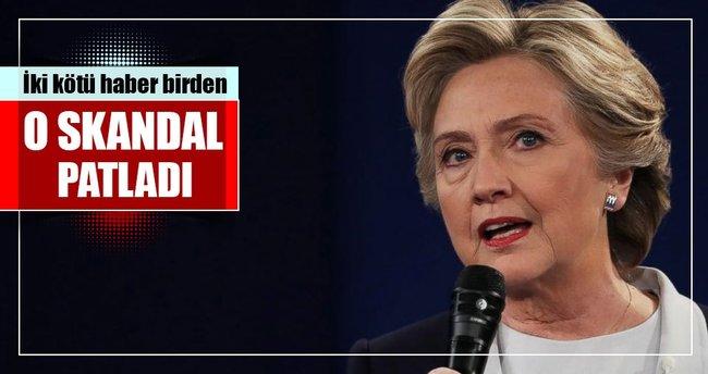 Clinton'a seçim öncesi iki kötü haber birden