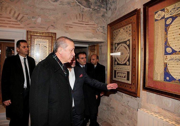 Erdoğan kar altında açılış yaptı