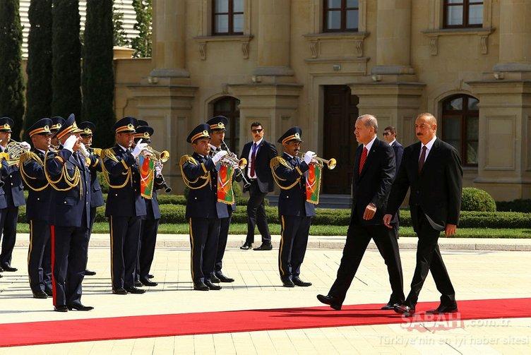 Bakü'nün kurtuluşunun 100. yıl dönümü. Erdoğan Azerbaycan'da