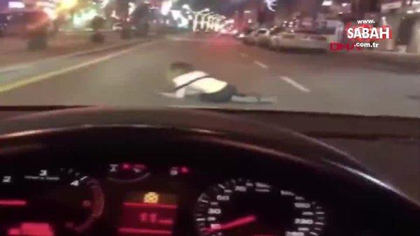 Genç kadının ayakta durmakta güçlük çektiği anları görüntüleyip, paylaştılar | Video