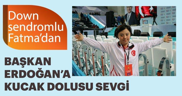 Başkan Erdoğan ile down sendromlu sporcunun samimi diyaloğu