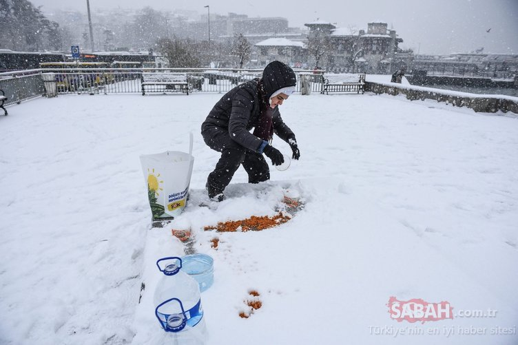 Sabah saatlerinde etkisini göstermişti! İşte İstanbul'dan kar manzaraları...