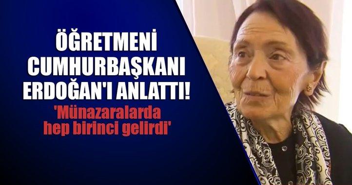 Cumhurbaşkanı Erdoğan'ın öğretmeni A Haber'de
