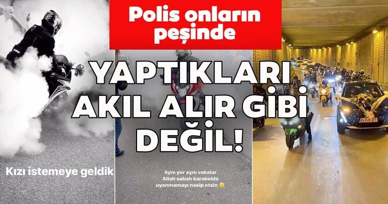Son Dakika! İstanbul'da patinajlı ve makaslı düğün konvoyu terörü kamerada