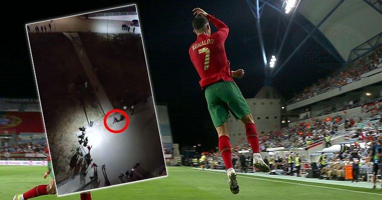 Üniversite öğrencilerinin Cristiano Ronaldo sevgisi! SIUUUUUUUUUU gol sevinci Twitter'ı salladı...