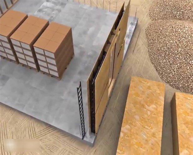 Tamamı  betondan oluşuyor