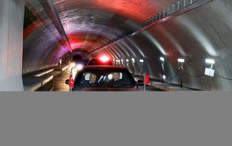 Erdoğan ve Yıldırım Avrasya Tüneli'nden böyle geçti