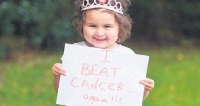 Dört yaşındaki kız 12 tümörü yendi